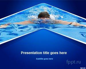 Пловец на синем фоне